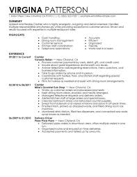 Examples Of Perfect Resumes Simple Cashier Resume Examples Resume Format Examples 28