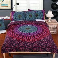 duvet cover sets queen bedding set queen bedclothes bohemian print duvet cover set with pillowcases bed