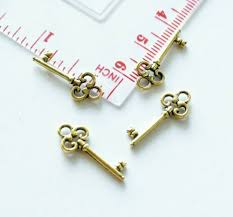 10x key charms for bracelet earrings