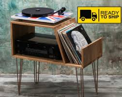 furniture turntable stand. vinyl record storage player cabinet media console stand hairpin furniture turntable o
