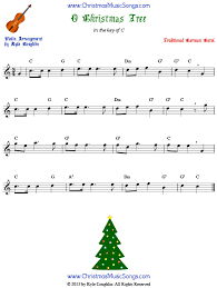Angels we have heard on high, joy to the world, silent night, the first noel, and many more. O Christmas Tree For Violin Free Sheet Music