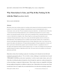 why materialism is false and why it has nothing to do the mind