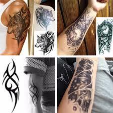 Muži 3d Velké Dočasné Tetování Vodotěsné Tetování Rukávy Pro Muže