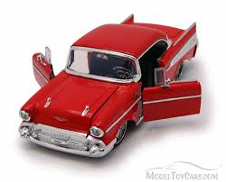 1957 Chevy Bel Air Hard Top, Red - Jada Toys 90437 - 1/24 scale ...