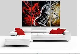 2018 handpainted black white red abstract oil painting on canvas wall art musical instruments guitar picture for home decor from lovehome9188  on guitar canvas wall art red with 2018 handpainted black white red abstract oil painting on canvas
