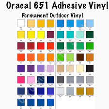 12x12 Sheets Of Oracal 651 Permanent Adhesive Vinyl Oracal