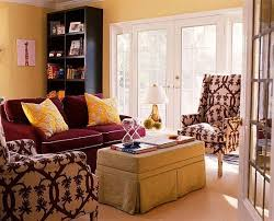 yellow wall burgundy for club chairs patterned other furniture burgundy furniture decorating ideas