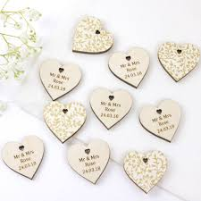 Wedding Favour Hearts Personalised By Artcuts Notonthehighstreet Com Wedding Favours