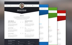 Best Resume Templates 2017 Impressive Best Free Resume Templates In PSD And AI In 60 Colorlib