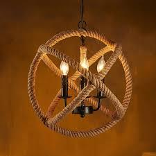 loft style nordic retro vintage clothing coffee hall rope chandelier industrial lamp replicate restoration hardware