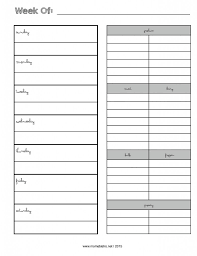 one week menu planner weekly menu planner with grocery list new febrary 2015 page 001