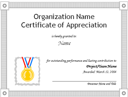 Where Can I Find Appreciation Certificate Wording Or