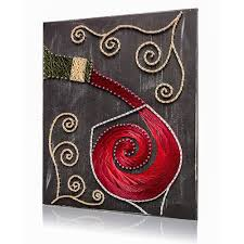 ... Pouring Wine String Art Kit on Painted Wood ...