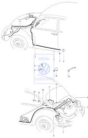 Old vw beetle parts wiring diagram and fuse box