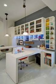 craft room lighting. Spacious Sewing Room In Contemporary Design Whit And Grey With Tall Ceilings. Craft Lighting D