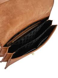 shoulder bag concertina leather ted baker brown concertina chita other view 4