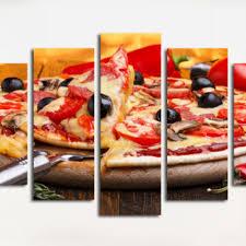 799x799 wall art decoration for italian restaurant with pizza