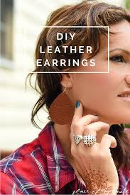 diy leather earring 1