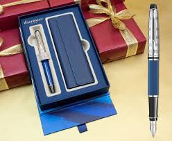 waterman hemisphere fountain pen um nib gift boxed black stainless 3 colours collectables
