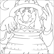 Small Picture Witch Colouring Picture