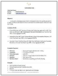 Mba Resume Sample Pdf Fresher Resume Format Fresh Sample Resume