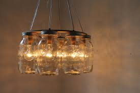 kitchen cute canning jar chandelier 32 rustic dining room light fixtures for new ideas mason ring