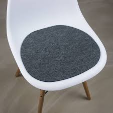 werktat felt seat pad suitable for eames chair dark gray mixed