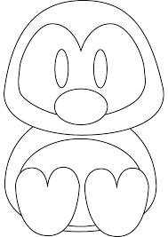 Penguin Coloring Pages For Toddlers Baby Penguin Coloring Pages Cute