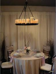 round candle chandelier classic dining room with oval black hanging pillar candle chandelier wooden white cushion