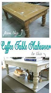 coffee table makeover coffee table makeover with added lower shelf wood coffee table makeover