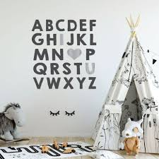 nursery wall decal alphabet vinyl decor