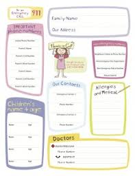 Emergency Contact Forms For Children Printable Babysitting Forms Tirevi Fontanacountryinn Com