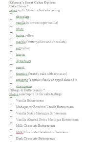 Need Help With Wedding Cake And Filling Flavors Options Included
