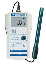 Ph Meter Calibration Milwaukee Mw100 Led Economy Portable Ph Meter With Manual