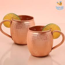 barrel shaped copper mugs set of 2 bigsmall in