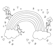Find more rainbow coloring page for kids pictures from our search. Rainbow Coloring Page Darcy Miller Designs