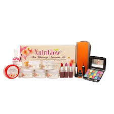 nutriglow plete skin whitening large kit with colour cosmetics 1 get 1 kits home18