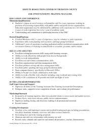 Trainer Job Description Resume Training Coordinator Resume Cover Letter Training Coordinator 18