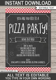 Pizza Party Invitation Templates Pizza Party Invitation Template Pizza Party Invite Printable