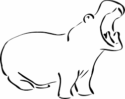 Small Picture Hippo Works Itus Coloring Hippopotamus Coloring Pages Sheets Click