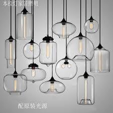 <b>New American industrial loft</b> vintage pendant lights clear glass style ...