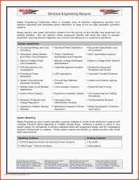 Plant Engineer Resumes Sample Resume Of Electrical Engineer For Design Power Plant Engineer