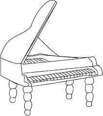 Small Picture Coloring grand piano picture