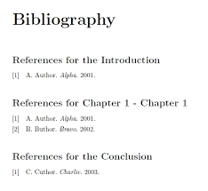 Proper Bibliography Proper Way To Include Unnumbered Chapters In A Per Chapter