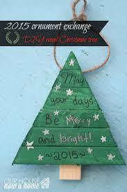 christmas ornament exchange diy wood christmas tree