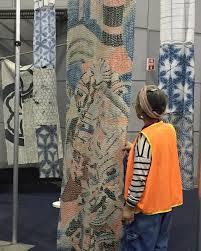 33 best Chiku-chiku images on Pinterest   Textile art, Embroidery ... & Akiko at the Brisbane quilt show. Adamdwight.com