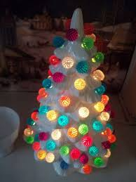 White Berry Christmas Tree Lights
