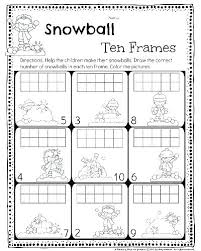 math ten frame worksheets gallery worksheet for kids great printable kindergarten frames draw the correct winter