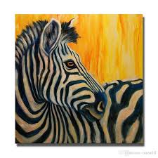 2018 3d oil painting on canvas hand painted animal zebra canvas oil painting painted by numbers nice wall picture for living room from ouweili