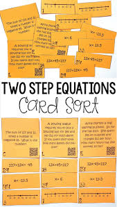writing solving two step equations on a number line